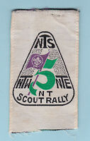 75th Years of World Scouting - HONG KONG NTR SCOUTS 1907-1982 SCOUT RALLY PATCH