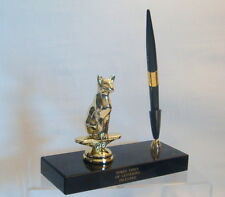 METAL SIAMESE CAT PEN SET TROPHY SIAMESE CAT TROPHY,TROPHIES