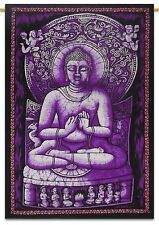 Lord Buddha Cotton Indian Wall Hanging Tapestry Poster Boho Black Hippie Throw