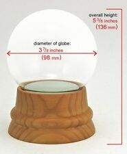 DIY Make-your-Own Large Glass Snow Globe Kit w/hand-turned Wood Base Beautiful!