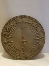 "Flora & Fauna Father Time Garden Sundial model# Rome Rm2345 12.5"" across"