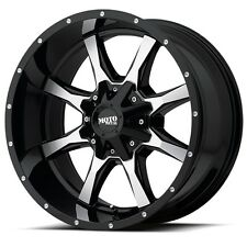 16 Inch Black Wheels Rims Ford Truck F 250 F 350 8x6.5 Lug Moto Metal MO970 NEW