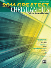 """""""2014 GREATEST CHRISTIAN HITS"""" PIANO/VOCAL/GUITAR MUSIC BOOK-DELUXE-NEW ON SALE!"""