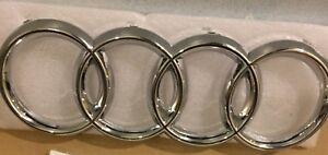 New Front Grill Chrome Badge Ring Logo Emblem Audi Q3 Q5 Q7 A6 285x100mm