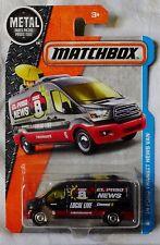 "2016 Matchbox '14 Ford Transit News Van ""Damage"", Ships World Wide & Int'l"