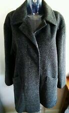 "AVITANO Womens Grey Wool Mohair Winter Coat Size UK  14-16  46"" Bust"