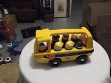 Little  tikes school  bus that yellow   the 9 tikes are vintage   and driver not