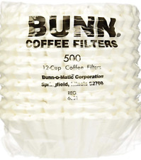 Bunn Coffee Filters Commercial 12 Cup - 500 count 20115.0000 New White