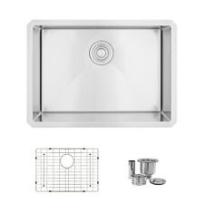 "25""L x 18""W Stainless Steel Single Basin Undermount Kitchen Sink"