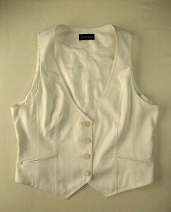 Ladies waistcoat Size 14 Principles Ivory cream Lined Good condition RU1