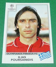 N°178 POURSANIDIS OLYMPIAKOS PANINI FOOTBALL CHAMPIONS LEAGUE 1999-2000