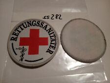 Rot Kreuz Armabzeichen DRK Rettungssanitäter mit Klett 1 Stück (ss282)