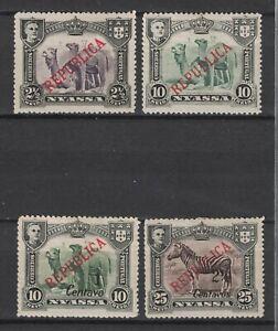 NYASSA:1911 SC#51,53,55 MH Camels,  Zebra X54