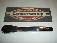"""New Craftsman Thin Profile 1/4"""" Dr 75-Tooth Full Polish Quick Release - Ratchet"""