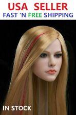 1/6 Avril Lavigne Blonde Straight Hair Head Sculpt For PHICEN TBLeague Figure