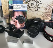 Canon EOS 500D Bundle + 18-55mm Lens, 2 x Genuine Canon LP-ES Batteries & Book