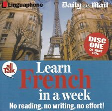 LEARN FRENCH IN A WEEK Disc One ( Linguaphone ) Daily Mail Ausgabe