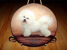 Cherished Bichons Dog Puppy, Faithful Friend, Danbury Mint Plate Collection