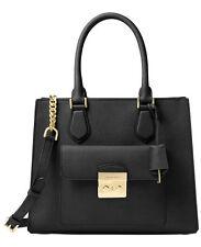 Michael Kors Bridgette Black Saffiano Leather Medium EW Tote Bag