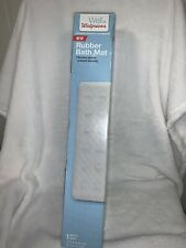 Walgreens Rubber Bath Matt 15.75 x 27.50 White