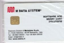 TEST SALON EXPO CARTE CARD .. ITALIE LANDIS & GYR M DATA SYSTEM CHIP/PUCE NEUVE