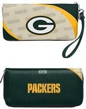 Green Bay Packers NFL Curve Zip Organizer Ladies Wallet
