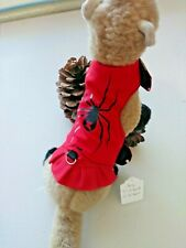 Ferret Reversible Harness - Red with Black Widow Spider, Cherries Pattern - S/M