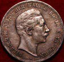 1907 Germany 5 Mark Silver Foreign Coin