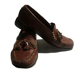 Cole Haan Spring Brown Dress Pinch Tassel Slip-On Little Boys Leather Shoes 7AA