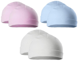 Baby 2 PACK HATS beanie premature girl boy prem tiny early small COTTON