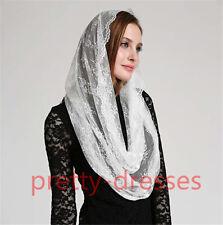 2021 White Black Chapel Church Veil Lace Catholic Mantilla infinity veils women