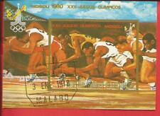 Olympische Spiele Moskau Läufer Laufen Block 284 Äquatorialguinea Äquatorialguinea
