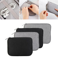 New Pouch Storage USB Cable Electronic Accessories Bag Organizer Travel Case AU