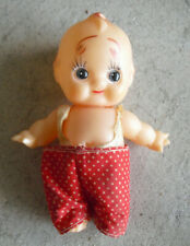 """Vintage Japan Vinyl Kewpie Boy Doll 4 3/4"""" Tall"""