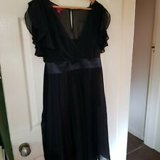 MONSOON Black Silk Special Occasion Dress Size 14