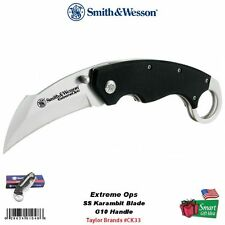 Smith & Wesson Extreme Ops, SS Karambit Blade Knife, G10 Handle #CK33