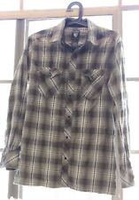 Kuhl Blue and Brown Plaid Button Down Long Sleeve Shirt - Mens Size S