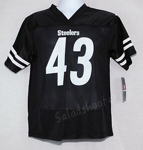 Troy Polamau Pittsburgh Steelers Black Jersey Youth L Large New with Tags