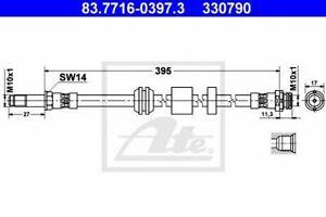 Flexible de frein FORD C-MAX (DM2) FOCUS C-MAX FOCUS II (DA_) FOCUS II  (DA_) FO