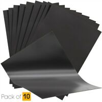 10 Plain A4 (0.4mm Thick) Magnetic Sheets for Crafts & Spellbinder Die Storage