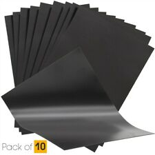 10 Plain A4 0.4mm Thick Magnetic Sheets for Crafts & Spellbinder Die Storage