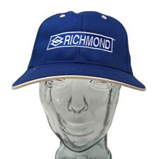 Richmond Gear Baseball Cap Auto Racing Parts Embroidered Blue Osfm Strap Back