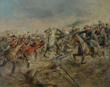 Feller Frank Charge Of The Seventh Cavalry Print 11 x 14  #4939