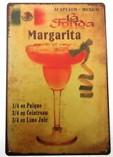 MARGARITA COCKTAIL RECIPE METAL TIN SIGNS vintage cafe pub bar garage retro