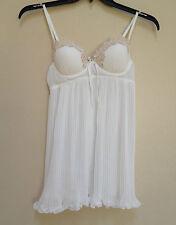 Linea Donatella Embellished Babydoll + Thong 2PC Set VAE085 Ivory Small