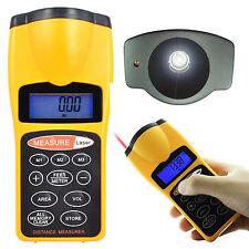 Numérique Ultrason Distance Mètre ruban à mesurer & pointeur laser avec rétroéclairage UK