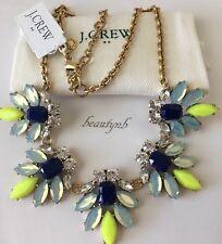 NWT Authentic J CREW Crystal watchbird necklace dark cove & J CREW BAG