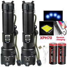 Powerful XHP70.2 Zoomable 5Modes 26650 USB Rechargeable Flashlight Torch Light