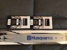 "Barra Husqvarna motosega + 2 CATENA 38CM PASSO 325""64 MAGLIE CAN 1.3MM 508926164"