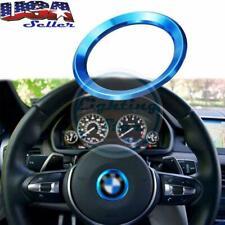Blue Center Decorate Steering wheel Logo Ring Trim Emblem For BMW 1 3 5 Series